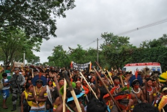 March to deliver the KariOca II Declaration to the Rio +20 Conference