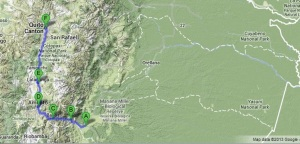 Map of the Walk to Quito